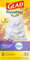 Glad Febreze Freshness Mediterranean Lavender 13 Gallon Tall Kitchen Drawstring Bags