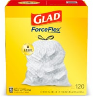 Glad Reinforced Strength Tall Kitchen Drawstring 13 Gallon Trash Bags Mega Pack