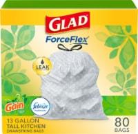 Glad OdorShield Tall Kitchen Drawstring Trash Bags Gain Original with Febreze Freshness - 13 gal