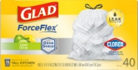 Glad Clorox Antimicrobial Odor Protection Clean Citrus Tall Kitchen Drawstring Trash Bags