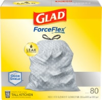 Glad ForceFlex Plus Odor Shield Unscented Tall 13 Gallon Kitchen Drawstring Trash Bags