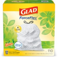 Glad ForceFlex with Gain Original Scent Tall Kitchen 13-Gallon Drawstring Trash Bags