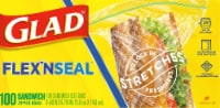 Glad Flex 'N Seal Sandwich Zipper Food Storage Bags