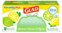 Glad ForceFlex Plus Sweet Citron & Lime Scent 13 Gallon Trash Bags