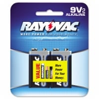 Rayovac High Energy 9-Volt Alkaline Batteries 2 pk Carded - Case Of: 12; Each Pack Qty: 2; - Case of: 12