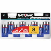 Rayovac High Energy C Alkaline Batteries 8 pk Carded - Case Of: 1; Each Pack Qty: 8; Total - Count of: 1