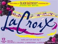 LaCroix Black Razzberry Sparkling Water - 12 cans / 12 fl oz