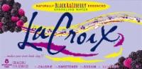LaCroix Black Razzberry Sparkling Water - 8 cans / 12 fl oz