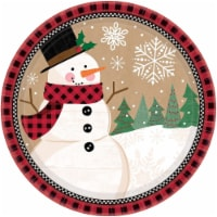 Amscan 591679 10.5 in. Christmas Winter Wonder Paper Plates - 8 Piece per Pack, Pack of 3 - 3
