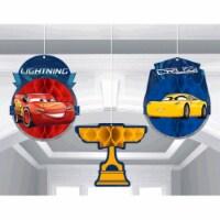 Cars 3 Honeycomb Decorations - 1