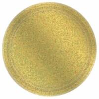 Amscan 306657 Prismatic Gold Dessert Plate, Pack of 8 - 1