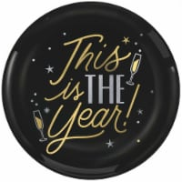 Amscan 430805 10.5 in. New Year This is the Year Plastic Plates - Pack of 10
