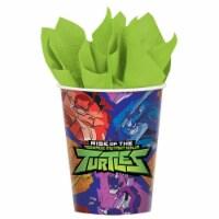 Amscan 307534 9 oz Rise of the Teenage Mutant Ninja Turtles Paper Cups, Pack of 8