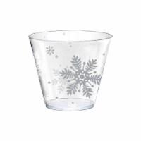Amscan 350342 Christmas Snowflake Tumblers - 10 Piece per Pack, Pack of 2