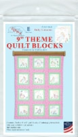 Jack Dempsey Themed Stamped White Quilt Blocks 9 X9  12/Pkg-Baby Unicorn - 12/Pkg