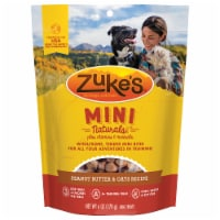 Zukes Mini Naturals Fresh Peanut Butter Formula Dog Treats