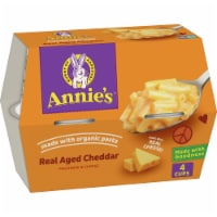 Annie's Real Aged Cheddar Macaroni & Cheese Microwave Cups 4 Count