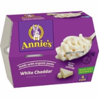 Annie's White Cheddar Macaroni & Cheese Microwavable Cups 4 Count