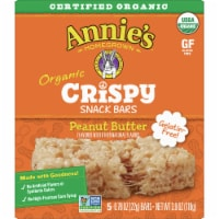 Annie's Homegrown Organic Crispy Peanut Butter Snack Bars 5 Count