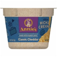Annie's Deluxe Rich & Creamy Shells & Classic Cheddar Macaroni and Cheese Microwavable Cup - 2.6 oz