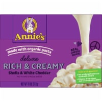 Annie's Deluxe Rich & Creamy Shells & White Cheddar Mac & Cheese Sauce