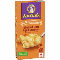 Annie's Shells & Aged Cheddar Macaroni & Cheese With Organic Pasta