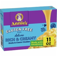Annie's Gluten Free Deluxe Rich & Creamy Shells & Classic Cheddar Rice Pasta & Cheese Sauce - 11 oz