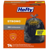 Hefty Extra Strong 30 Gallon Large Trash Drawstring Bags