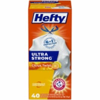 Hefty Ultra Strong Citrus Twist Tall 13 Gallon Kitchen Drawstring Trash Bags