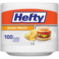 Hefty Everyday Soak Proof Foam Plates 100 Count