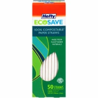 Hefty EcoSave™ Compostable Paper Straws - 7 1/4 in x 1/4 in