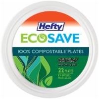 Hefty EcoSave 100% Compostable Paper Plates