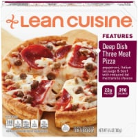 Lean Cuisine Features Deep Dish Three Meat Pizza