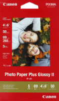 Canon Pixma Photo Paper Plus Glossy II Inkjet Paper - 50 Sheets - White
