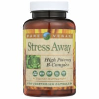 Pure Vegan Stress Away High Potency B-Complex Vegetarian Capsules