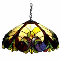 CH18780VI18-DH2 CHLOE Lighting LIAISON Tiffany-style 2 Light Victorian Ceiling Pendent