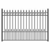 Aleko FENCEPRA-UNB 8 x 5 ft. Prague Style Iron Wrought Steel Fence