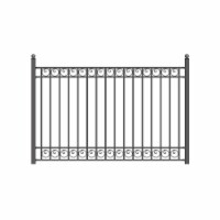 Aleko FENCEDUB-UNB 8 x 5 ft. Dublin Style Iron Ornamental Fence