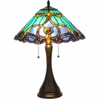 "CH35372BV16-TL2 CHLOE Lighting KEEGAN Tiffany-style 2 Light Victorian Table Lamp 16"" Shade - 1 unit"