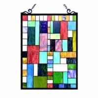 CHLOE Lighting PICASSO Tiffany-glass Rectangle Window Panel 18x24