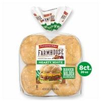 Pepperidge Farm Farmhouse Hearty White Hamburger Buns - 8 ct / 20 oz