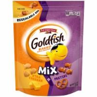 Goldfish Mix Xtra Cheddar + Pretzel Baked Snack Crackers - 11.5 oz