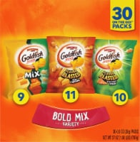 Pepperidge Farms Bold Mix Variety Goldfish Baked Snack Crackers Snack Bags - 30 ct / 0.9 oz