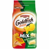 Goldfish Mix Cheesy Pizza + Parmesan Crackers