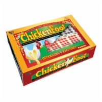 University Games ChickenFoot Professional Size Double 9 Color Dot Dominoes