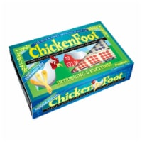 University Games ChickenFoot Tournament Size Double 9 Color Dot Dominoes