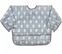 Bumkins  Sleeved Bib Grey Arrow