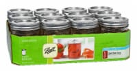 Ball Regular Mouth Glass Mason Jars - 12 Pack