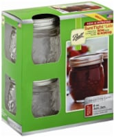 Ball Collection Elite Design Series Regular Mouth Jam Jars - Clear - 4 pk / 8 oz