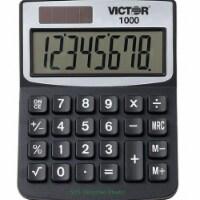 Victor 1000 Minidesk Calculator, Solar/Battery, 8-Digit Lcd 1000 - 3.25 x 1.19 x 4.25
